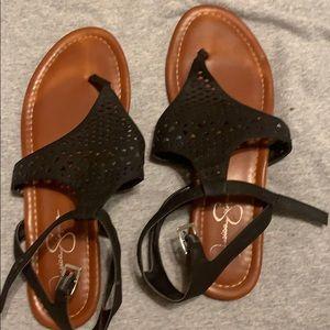 Jessica Simpson black sandals